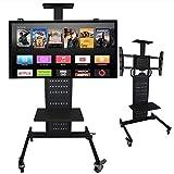 SuRose TV Fernseher Ständer Höhenverstellbar Tischfuß für TV-Tisch, Bis zu 32-70' LCD-Fernseher können installiert Werden. Schwarz