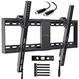Perlegear TV Wandhalterung, Neigbare TV Halterung für 32-70 Zoll Flach&Curved Fernseher Oder Monitor bis zu 60kg, Max.VESA 600x400mm