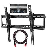 TV Wandhalterung Passt Die Meisten 32-65 Zoll (82-165cm) Plasma Flat TV Tragfähigkeit 165lbs/75kg 15 Grad Tilt Up/Down VESA Bis Zu 600x400mm Beinhaltet HDMI-Kabel Und Magnetische Blase Suptek MT5074