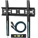 Cheetah Mounts APFMSB TV Wandhalterung für 20-55 Zoll LCD, LED Fernseher; Maximal VESA max. 420 x 400 und kg 52.   Ein HDMI Kabel mit Ethernet (3 m). Ein Magnetische 3 Achsen Wasserwaage.