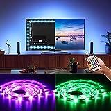 BASON Led Strip, TV Hintergrundbeleuchtung LED Streife, 5050 SMD RGB Led Strip für 42-50 Zoll TV Flachbildschirm Wandhalterung Dekoration, USB betrieben Led Stripes mit Fernbedienung.