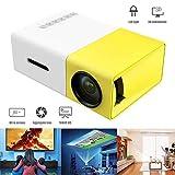 Genmaisima Mini-Projektor, tragbarer vollfarbiger LED-LCD-Videoprojektor für Kinder, Video-TV-Film, Party Game, Unterhaltung im Freien mit HDMI-USB-AV-Schnittstellen YG300