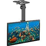 TV Deckenhalterung Schwenkbare Neigbare Klappbare Höhenverstellbare TV Decken Halterung für 17-39 Zoll Flach & Curved Fernseher oder Monitor bis zu 20kg, max.VESA 200x200mm