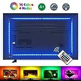 LE LED TV Hintergrundbeleuchtung, 2M RGB LED Fernseher Beleuchtung for 35~65 Zoll HDTV PC Monitor, Upgrade RF Fernbedienung, Dimmbar Farbauswahlen und Helligkeit 4x50 cm LED Strip USB (RGB, 2m)